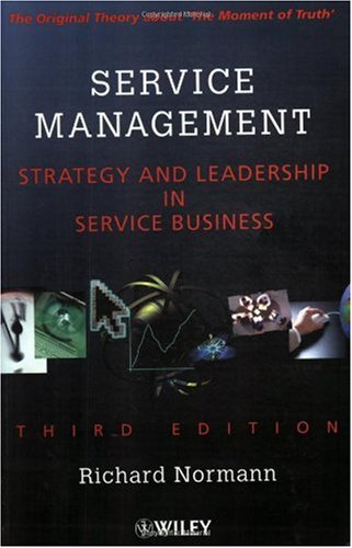 Service Management Strategy and Leadership in Service Business 3rd 2001 (Revised) 9780471494393 Front Cover