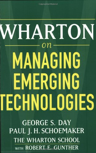 Wharton on Managing Emerging Technologies   2000 edition cover
