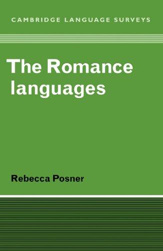 Romance Languages   1996 9780521281393 Front Cover