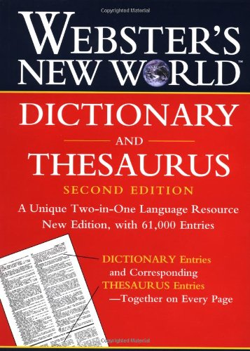 Dicitionary and Thesaurus  2nd 2002 (Revised) 9780764563393 Front Cover