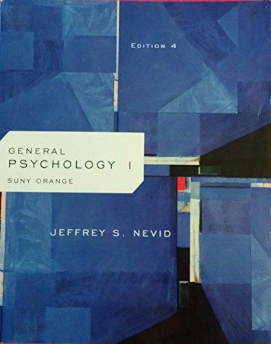 GENERAL PSYCHOLOGY I >CUSTOM<  N/A 9781285133393 Front Cover