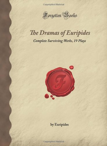 DRAMAS OF EURIPIDES                     N/A 9781605063393 Front Cover