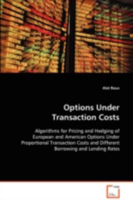 Options under Transaction Costs   2008 9783836492393 Front Cover