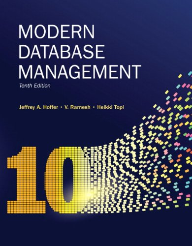 Modern Database Management  10th 2011 (Revised) edition cover