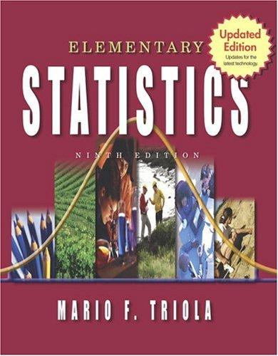 Elementary Statistics Update  9th 2005 edition cover