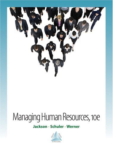 Managing Human Resources  10th 2009 edition cover