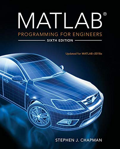MATLAB Programming for Engineers  6th 2020 (Revised) 9780357030394 Front Cover