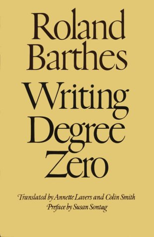 Writing Degree Zero   2006 edition cover
