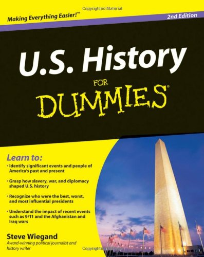 U. S. History for Dummies  2nd 2009 edition cover