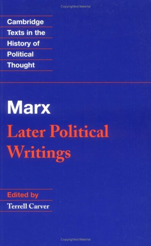 Marx Later Political Writings  1996 edition cover