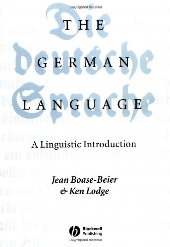 German Language A Linguistic Introduction  2003 edition cover
