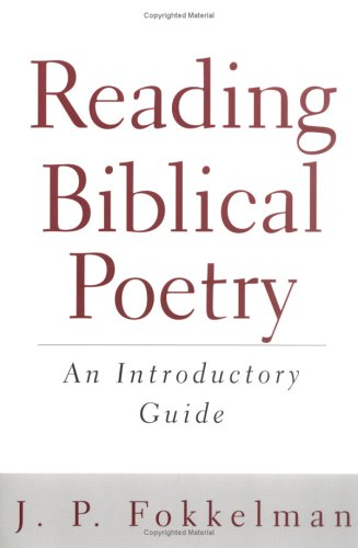 Reading Biblical Poetry An Introductory Guide  2001 edition cover