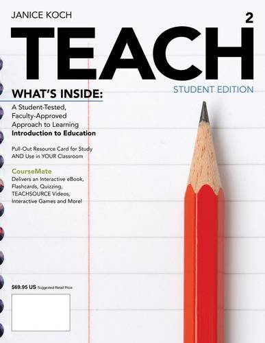 Teach + Education Coursemate With Ebook Printed Access Card: 2nd 2013 edition cover
