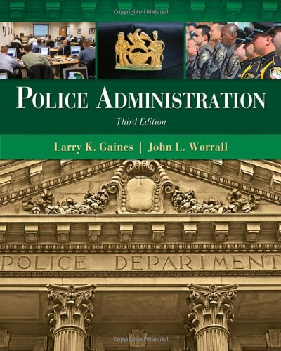 Police Administration  3rd 2012 edition cover