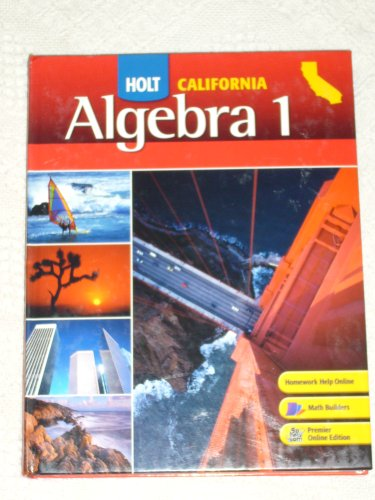 Algebra 1 California Edition Textbook:  2008 9780030923395 Front Cover