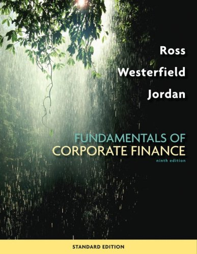 Fundamentals of Corporate Finance Standard Edition  9th 2010 edition cover