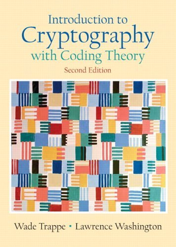 Introduction to Cryptography with Coding Theory  2nd 2006 edition cover