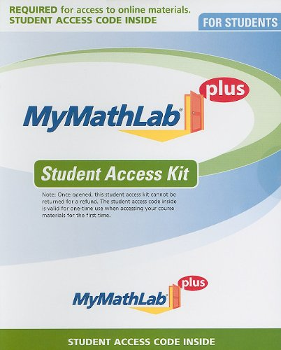 MyMathLab-MyLabsPlus Student Access Kit  2nd 2012 edition cover