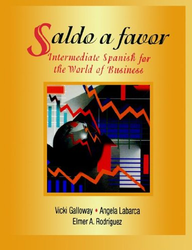 Saldo a Favor Intermediate Spanish for the World of Business  1997 edition cover