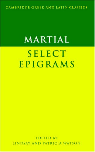 Martial Select Epigrams  2003 edition cover