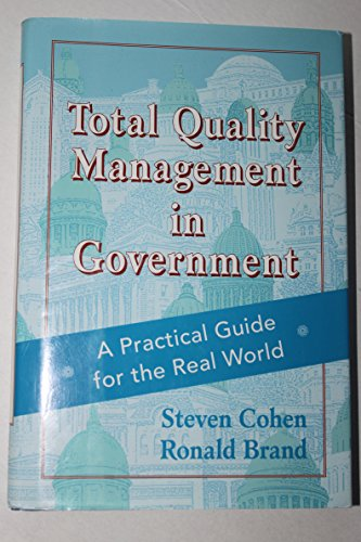 TQM Total Quality Management in Government A Practical Guide for the Real World  1993 edition cover