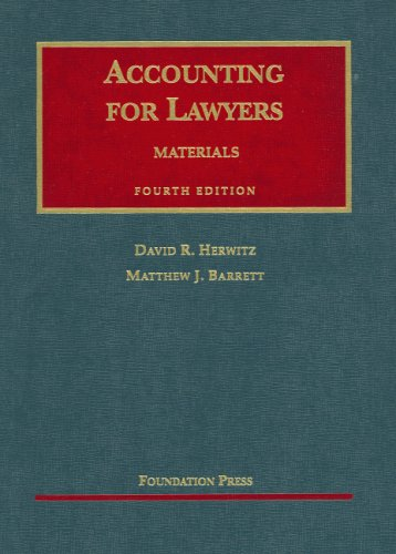 Accounting for Lawyers  4th 2006 (Revised) edition cover