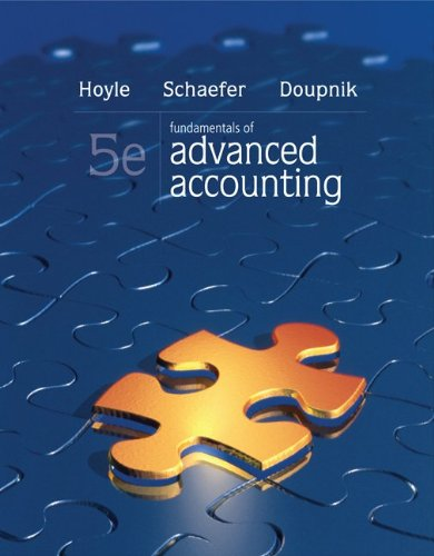 Fundamentals of Advanced Accounting  5th 2013 edition cover