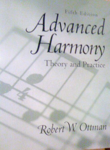Advanced Harmony Theory and Practice 5th 2000 edition cover