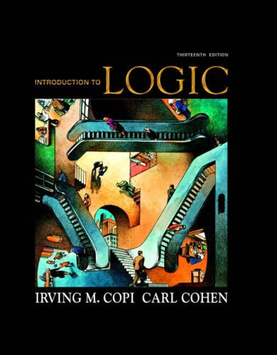 Introduction to Logic  13th 2009 edition cover