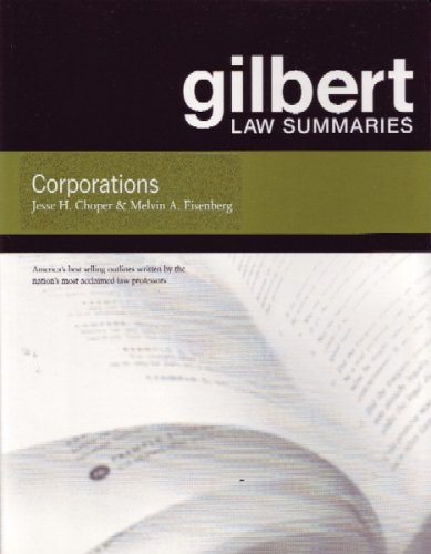 Gilbert Law Summaries on Corporations  15th 2005 (Revised) 9780314156396 Front Cover