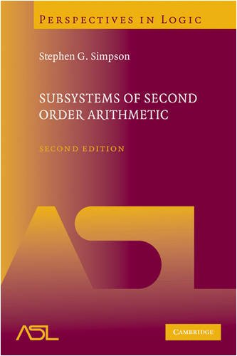 Subsystems of Second Order Arithmetic  2nd 2009 9780521884396 Front Cover