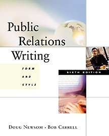 Public Relations Writing Form and Style 6th 2001 edition cover