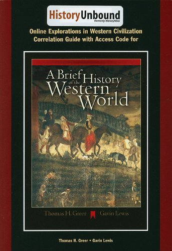 HistoryUnbound A Brief History of the Western World 9th 2005 9780534642396 Front Cover