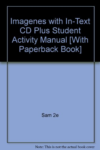 Imagenes with in-text Cd 2nd Edition Plus Student Activity Manual 2nd 2007 9780618777396 Front Cover