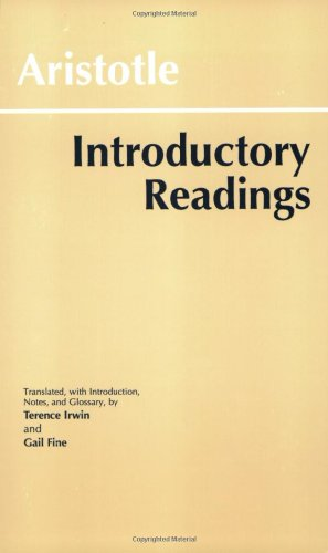 Aristotle Introductory Readings  1996 9780872203396 Front Cover