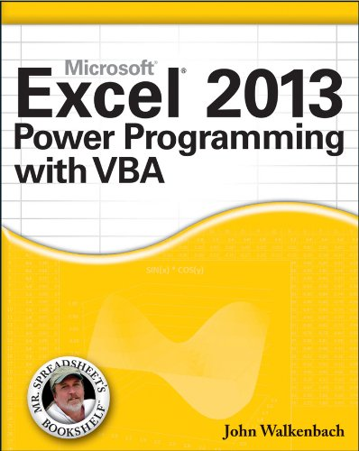 Excel 2013 Power Programming with VBA   2013 9781118490396 Front Cover