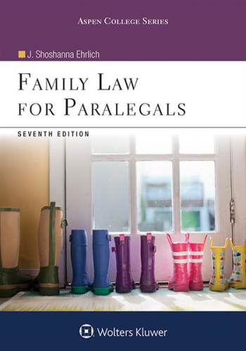 Family Law for Paralegals:   2016 9781454873396 Front Cover