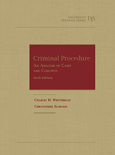 Criminal Procedure, an Analysis of Cases and Concepts:   2015 9781634590396 Front Cover
