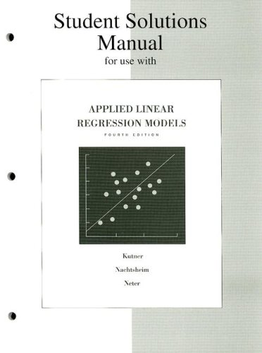 Applied Linear Regression Models  4th 2004 (Revised) edition cover