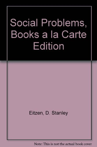 Social Problems: Books a La Carte  2013 edition cover