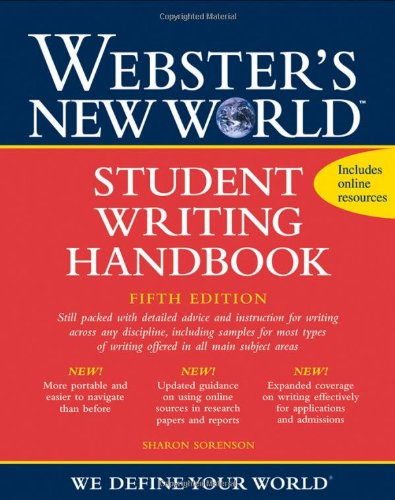 Webster's New World Student Writing Handbook  5th 2010 (Handbook (Instructor's)) 9780470435397 Front Cover