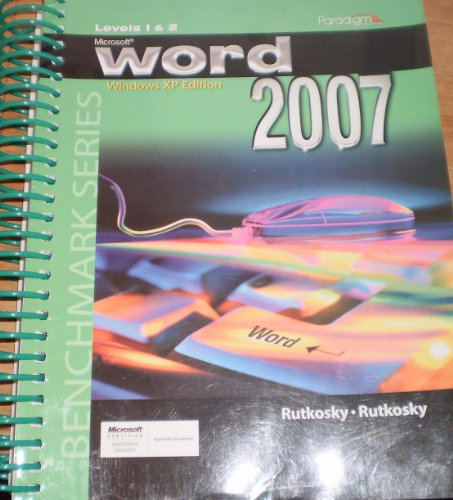Microsoft Word 2007 XP Level 1 & 2: 1st 2007 9780763830397 Front Cover