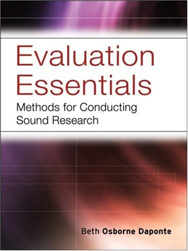Evaluation Essentials Methods for Conducting Sound Research  2008 edition cover