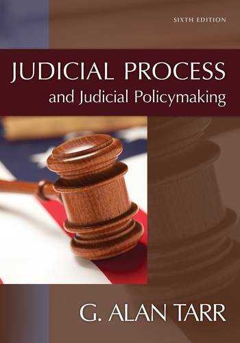 Judicial Process and Judicial Policymaking  6th 2014 edition cover