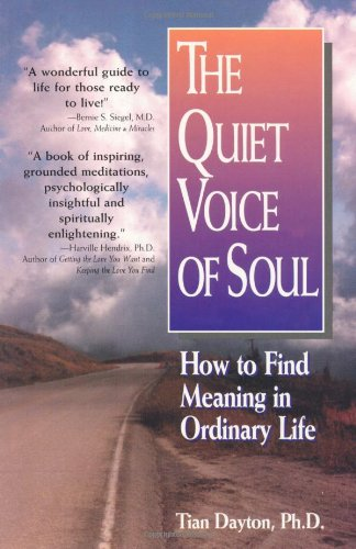 Quiet Voice of Soul How to Find Meaning in Ordinary Life  1995 9781558743397 Front Cover