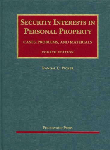Security Interests in Personal Property  4th 2009 (Revised) edition cover