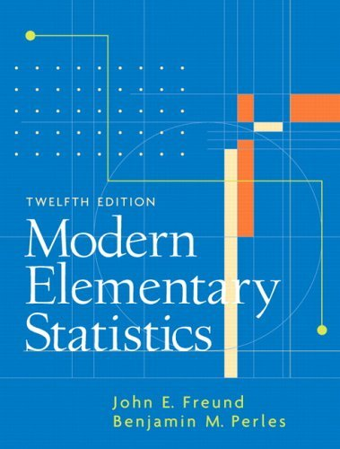 Modern Elementary Statistics  12th 2007 (Revised) edition cover