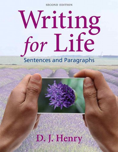 Writing for Life: Sentences and Paragraphs  2013 edition cover