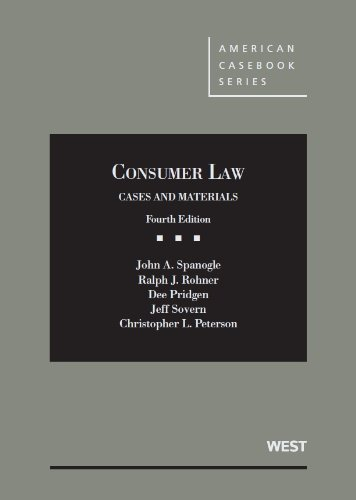 Consumer Law: Cases and Materials  2013 edition cover