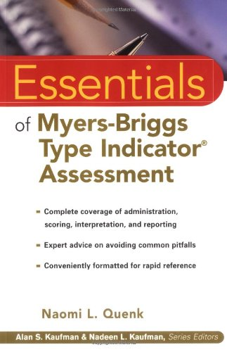 Essentials of Myers-Briggs Type Indicator Assessment   2000 9780471332398 Front Cover